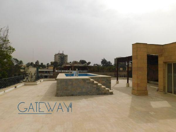 Semi-Furnished Penthouse for Rent in Maadi Royal Gardens 1