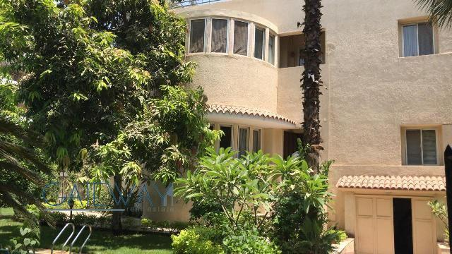 Semi-Furnished Villa for Rent in Sarayat Maadi with Private Garden & Swimming Pool.