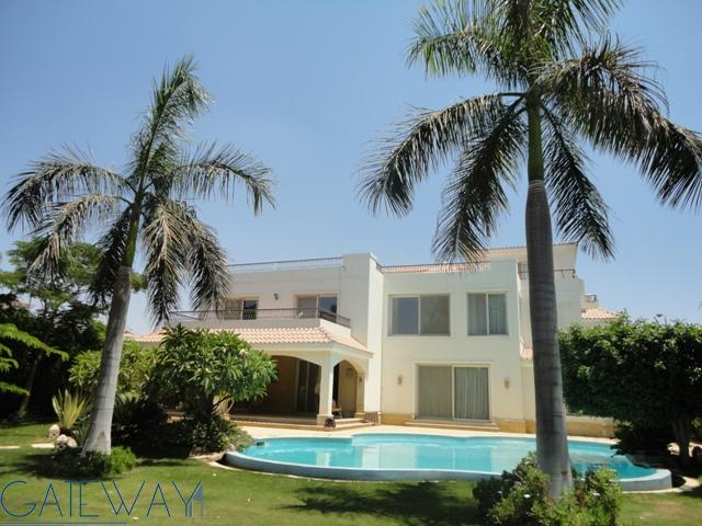 Semi-furnished Villa for Rent in Green Heights Compound with Private Garden & Swimming Pool
