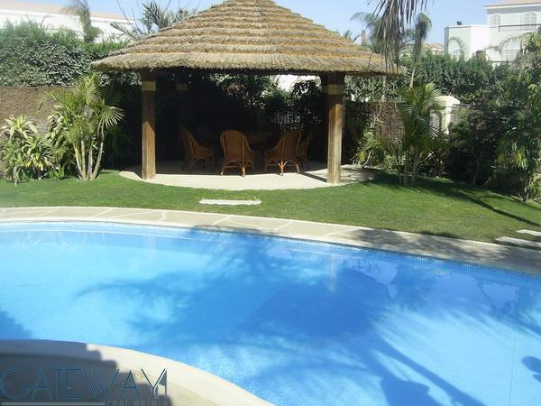 Furnished villa for Rent / Sale in Green Heights Compound With Private Garden - Swimming Pool