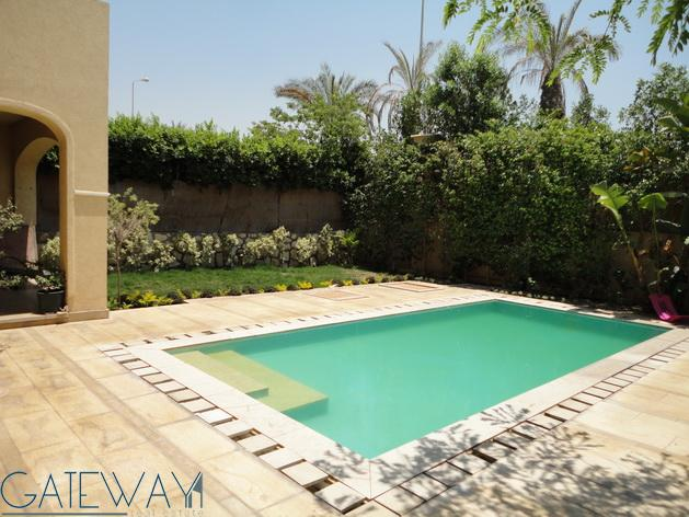 Furnished Twin House for Sale in El Gezera Compound with Private Garden & Swimming Pool