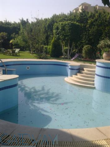 Furnished Villa for Rent in Hay El Ashgar Compound wtith  Private Garden and Swimming Pool.