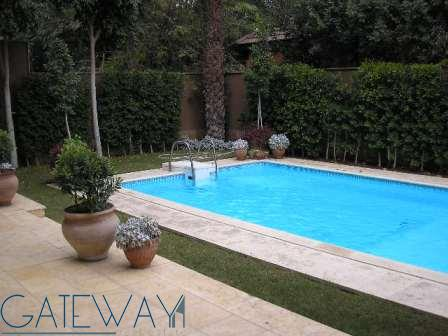 Unfurnished Villa for Rent in Maadi Sarayat with Private Swimming Pool & Garden.