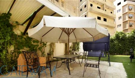 Fully Furnished Ground Floor for Rent & Sale  in Zahraa El Maadi with Private Garden.