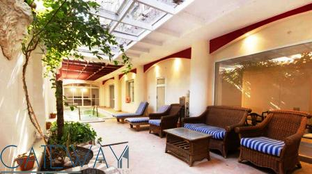 Fully Furnished Ground Floor for Rent or Sale  in Maadi Sarayat with Private Swimming Pool.