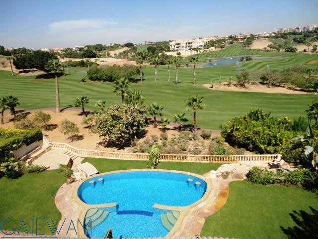 Unfurnished Twin House For Rent In Katameya Heights Golf With Private Garden Swimming Pool
