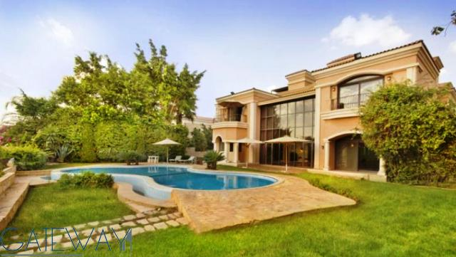 Semi-Furnished Villa for Sale in New Cairo with Private Garden & Swimming Pool.