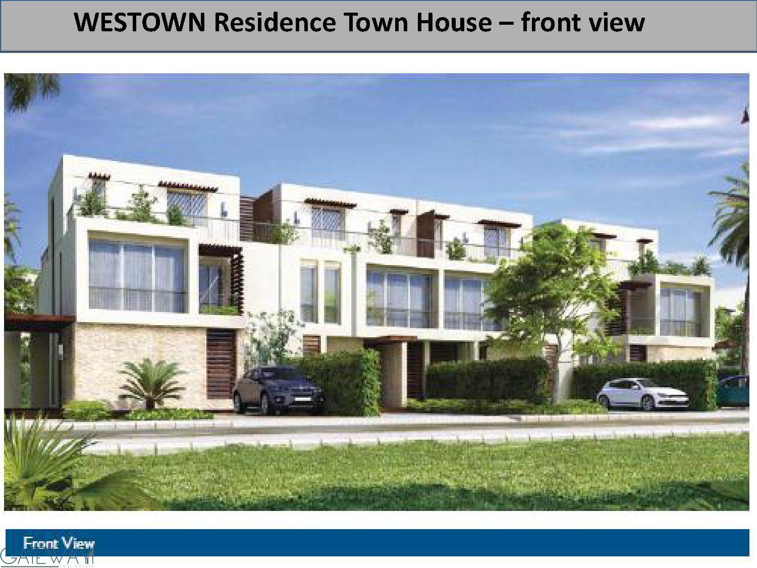 Townhouses & Twinhouses for Sale in Westown Residence - El Shikh Zayed