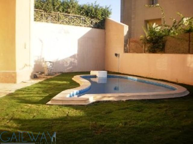 Fully Furnished Ground Floor for Rent in Katameya Heights with Private Garden & Swimming Pool.