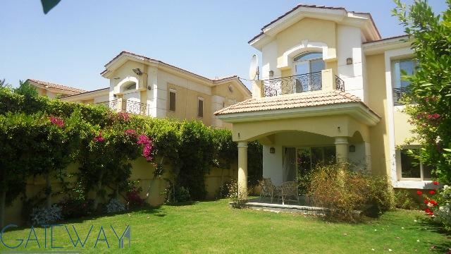 Fully Furnished Twinhouse for Rent in El Yasmine Green Land Compound October with Private Garden