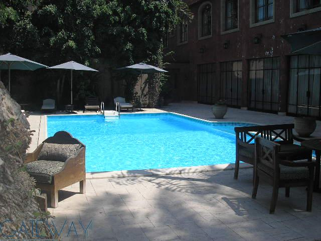 Service Apartment for Rent in Maadi Sarayat with Shared Garden & Swimming Pool.