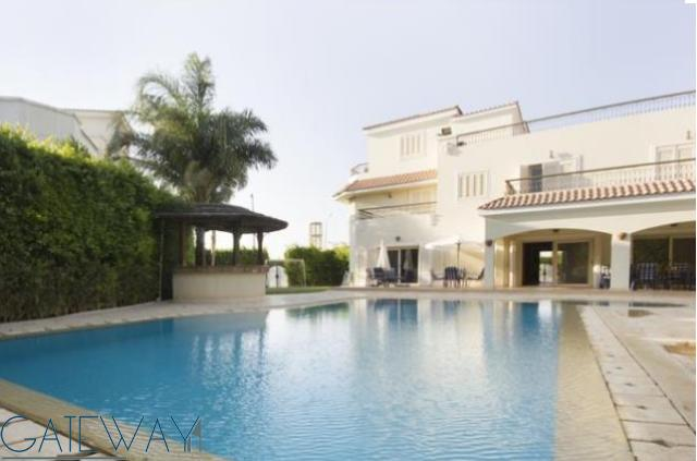 Semi-Furnished Villa for Rent in Green Heights Compound with Private Garden & Swimming Pool.