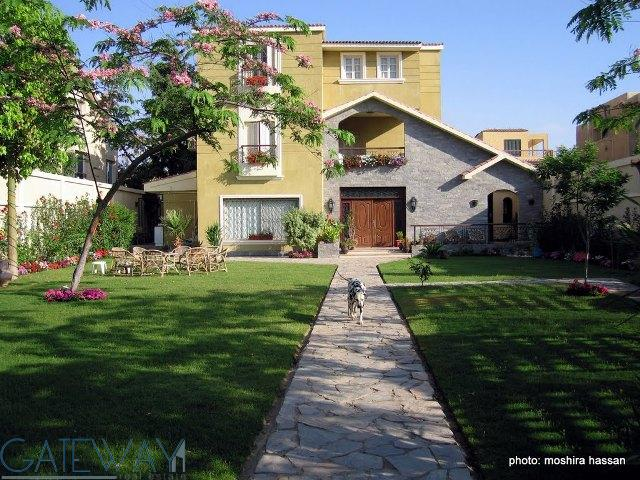 Semi Furnished Villa for Rent in 6th of October with Private Garden and Swimming Pool