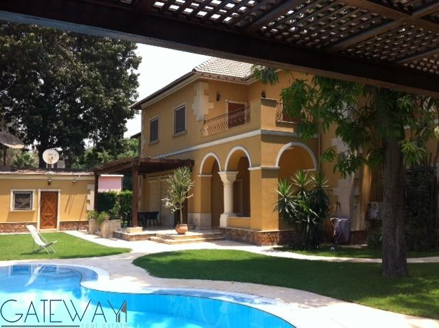 (Ref:4247) Semi-Furnished or Furnished Villa for Rent in Maadi Sarayat