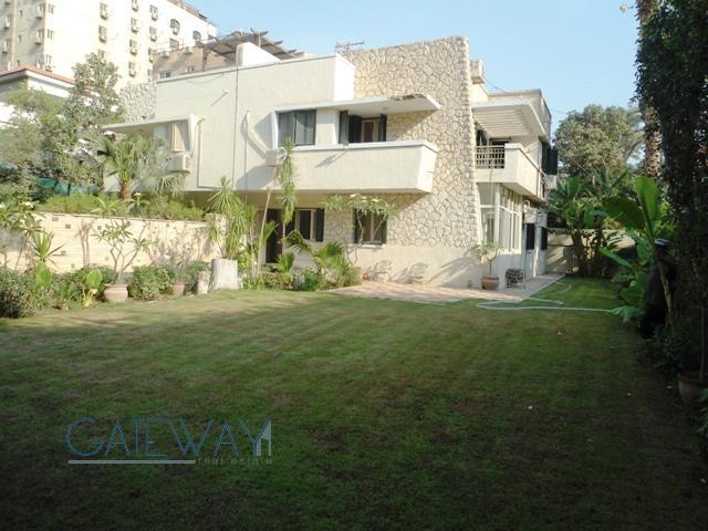Semi-Furnished Villa for Rent in Degla Maadi with Private Garden