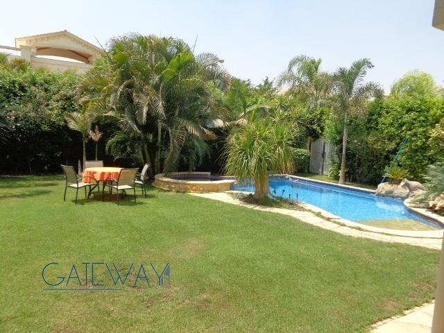 Furnished Villa for Rent in  Green Heights Compound with Private Garden & Swimming Pool