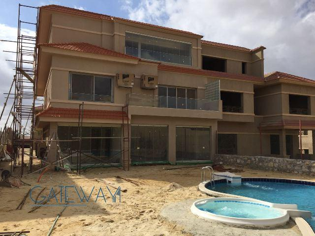 Semi-Furnished Twin House for Sale in El Karma Heights Compound With Private Garden & Swimming Pool