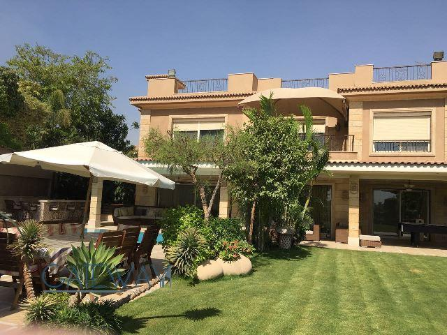 Semi-Furnished Villa for Sale in Katameya Heights Compound with Private Garden & Swimming Pool