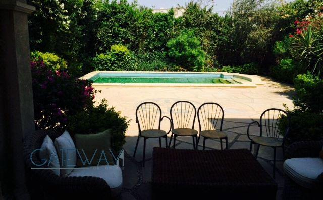 Furnished Townhouse for Rent in El Gezira Compound with Private Garden & Swimming Pool