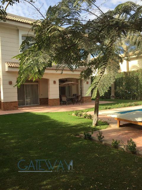 Furnished Villa for Rent in Jannat Azizeya Compound with Private Garden & Swimming Pool