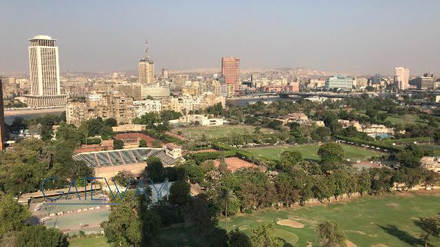 Semi-Furnished Apartment for Rent in Zamalek - Gezira Club view.