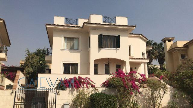 Semi-Furnished Villa for Rent in Katameya Heights Compound with Private Garden & Swimming Pool.