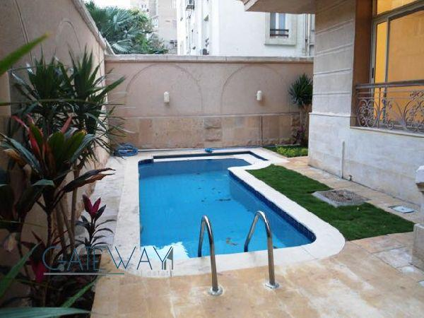 Semi-Furnished Garden Duplex for Rent in Maadi Degla