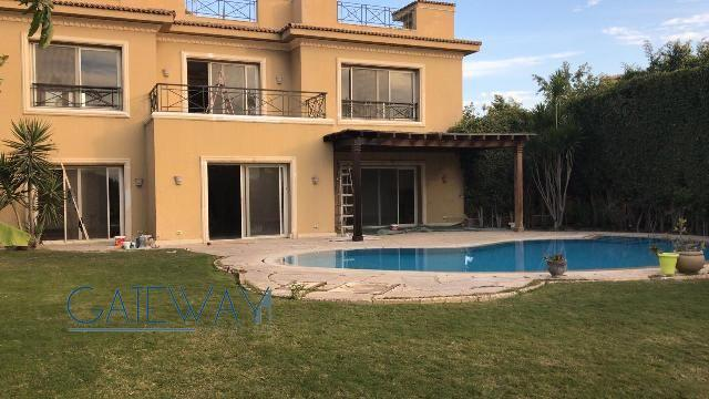 Semi-Furnished Villa for Rent in Katameya Heights - New Cairo