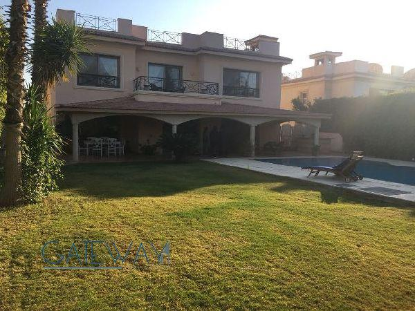 Semi-Furnished Villa for Rent in Katameya Heights Compound