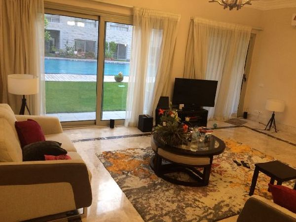 Furnished Ground Floor For Rent / Sale In Maadi Royal Gardens 3